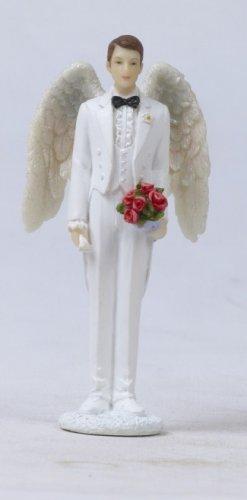 ANGEL GROOM CAKE TOPPER. FIGURINE. STATUE (7866)