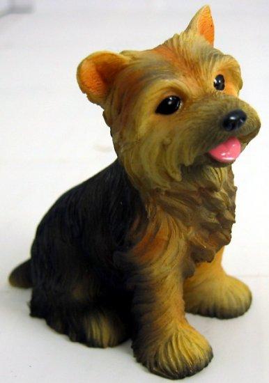 YORKSHIRE TERRIER--YORKIE-PUPPY-DOG FIGURINE CUTE (6324s)