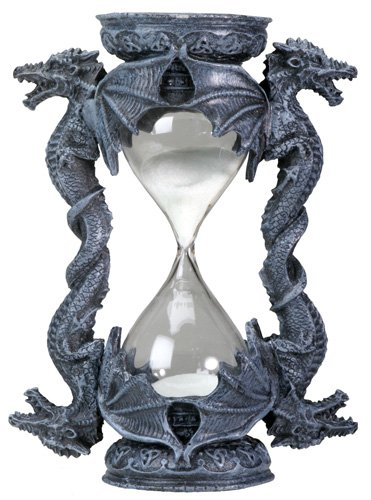 DRAGON SANDGLASS-FIGURINE-STATUE (6017s)