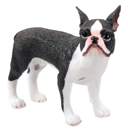 BOSTON TERRIER DOG FIGURINE (7508)