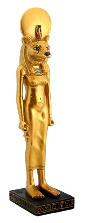 EGYPTIAN GODDESS-SEKHMET STATUE-NEAT (5102 s)