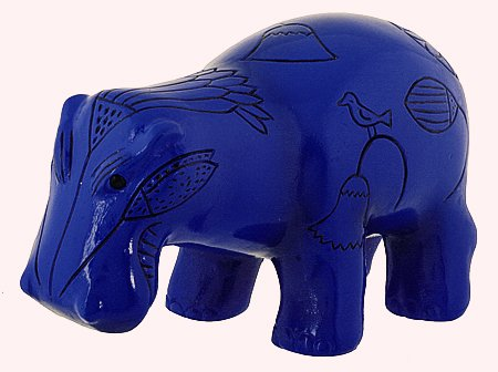 EGYPTIAN HIPPOPOTAMUS FIGURINE-WILLIAM (7710)