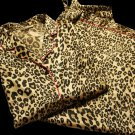 "73$ Victoria's Secret ""The After Hours"" Leopard Satin Pajama Set  PJ Long Sleeves Size: LARGE"