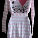New Victoria  Secret SUPERMODEL I love VS Victoria Secret  Pink striped hooded robe Small S