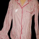 Victorias Secret Christmas Flannel STRIPED COTTON  Pajama Set 2 Pcs SZ Small