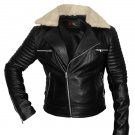 Biker leather jacket with quilted sleeves for women Free Shipping to Australia & New Zealand!!
