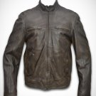 Leather jacket leather jacket men biker jacket style Free Shipping to Australia & New Zealand!!