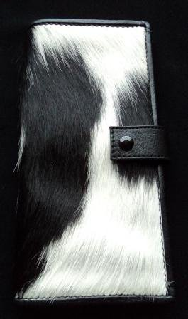 Exclusive Quality Cowhide / Cow Hair On Leather Wallet For Women & Ladies
