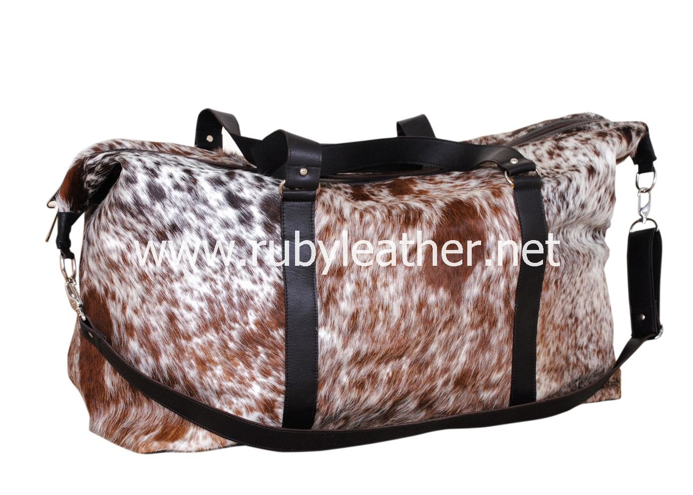 Cowhide leather Duffle bag by Ruby Leather Free Shipping to Australia & NewZealand