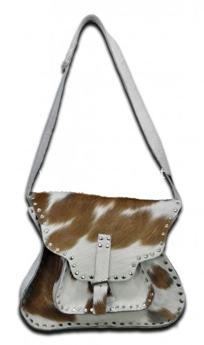 New cowhide cross body messenger bag by Ruby Leather