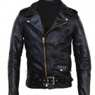 Men cowhide motorbike leather jacket leather jacket Free Shipping to Australia & NewZealand