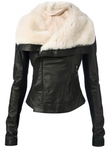 shearling Leather jacket ladies sheepskin fur Leather jacket