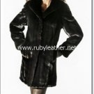 women winter fur coat, mink fur coat, fox fur coat