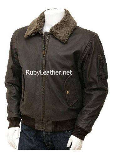 Leather Pilot jacket, Aviator jacket, men leather jacket