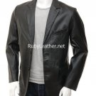 Mens Leather Coat .