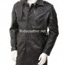 Men's Brown Leather coat , Men Leather coat.