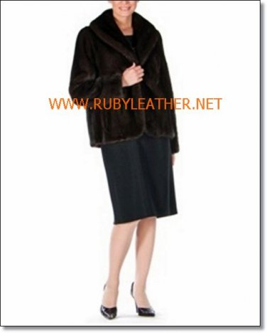 Mink Jacket Shawl Collar Tulip Hem, ladies fur coat , mink fur coat for w