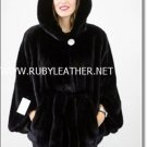 New Sheared Mink Coat  with Fox fur for ladies , mink fur coat ,fox fur coa
