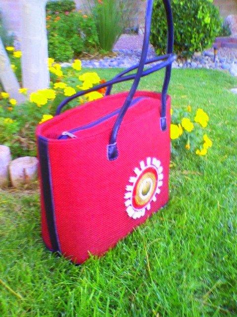 Burgundy/Maroon Beautiful Red African bag