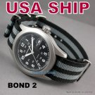 20mm James Bond NATO Military Watch Strap Band