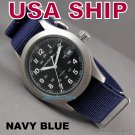 20mm Navy Blue NATO Military Watch Strap Band