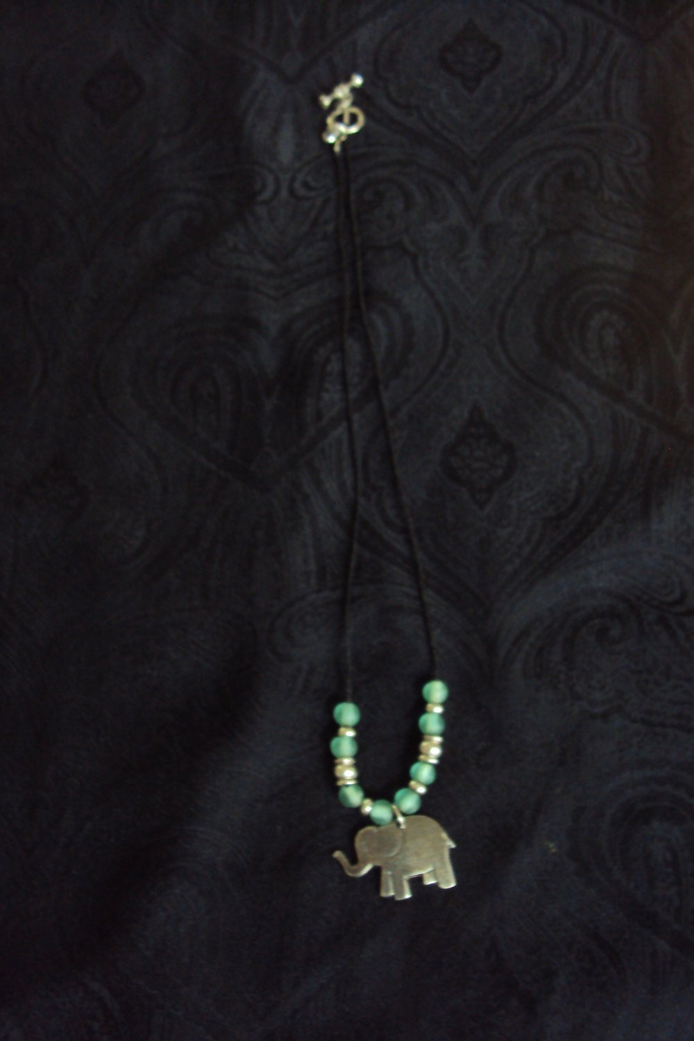 Elephant necklace with beads