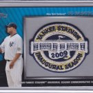 CC SABATHIA 2010 TOPPS COMMEMORATIVE PATCH YANKEES STADIUM INAUGURAL SEASON
