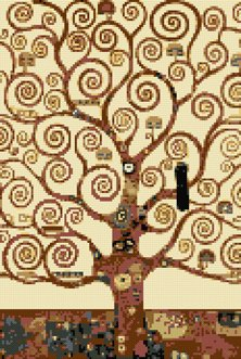Tree of life by Klimt cross stitch kit