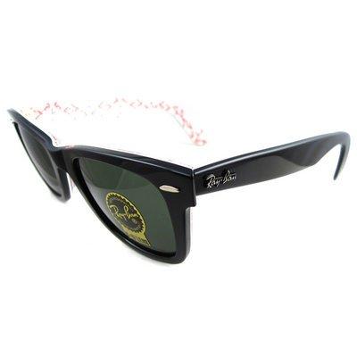 Ray-Ban Sunglasses Wayfarer 2140 1017 Black on Text Red