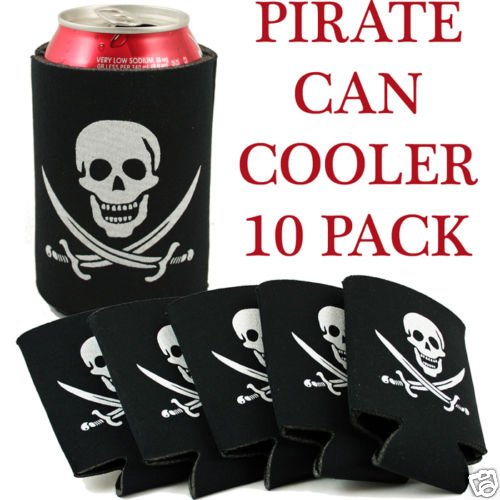 10 Pack Pirate Can Koozies - Coolers/Coolies