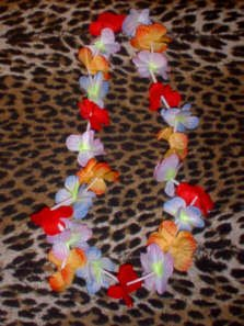 Regular Hawaiian Flower Leis - Tiki Luau !!! (1 Doz)
