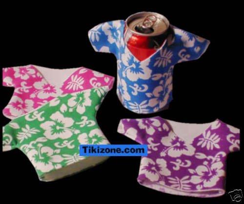 Foam Hawaiian Shirt Can Insulators (12) Koozie/Coolers