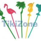 50 Tropical Tiki Bar Food Picks/Swizzles for your Luau
