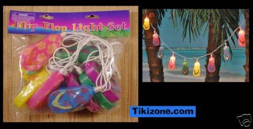 Flip Flops Light set - Beach Tiki Bar/Luau Light String