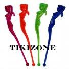 100 Pack of Sexy Lady Swizzle Sticks - Tiki Drink Stirs