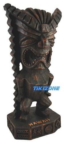 Hawaiian Luau Tiki God Statue - Parrothead God of Money