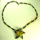 Glass Star Pendant and necklace     A002