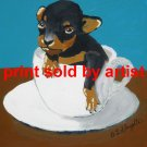 Tea Cup Pup Art Print