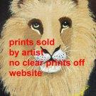 Lion Head Portrait Art Print
