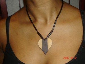 Wooden Chokers - Heart
