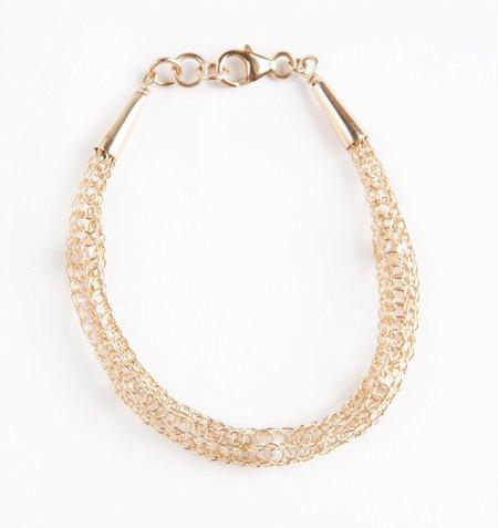 Artistic 14kt Gold filled bracelet with pearls