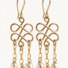 Remarkable 14kt Gold filled earnings with pearls / Tourmaline