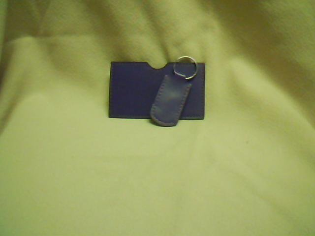 Purple I.D. & Key Chain Set