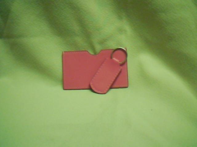 Pink I.D. & Key Chain Set