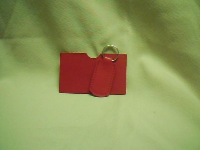 Red I.D. & Key Chain Set