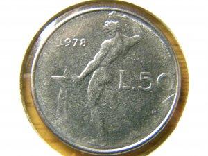 1978 Italy 50 Lire, Avg.