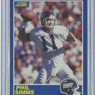 1989 Score Phil Simms