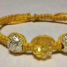 Yellow Rhinestone Bracelet