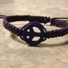 Peace Sign Shamballa Purple