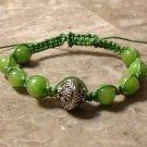 Silver & Green Shamballa Bracelet